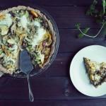 Boczniaki – właściwości + przepis na quiche z warzywami i boczniakami