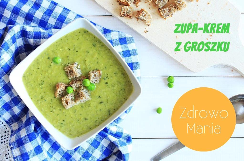 Zupa krem z groszku zielonego z jarmużem (video)