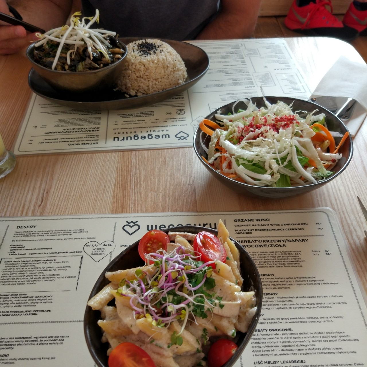 weganski obiad w warszawie - wegeguru