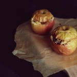 Pieczone jabłka faszerowane bakaliami