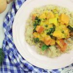Proste curry z dyni z jarmużem