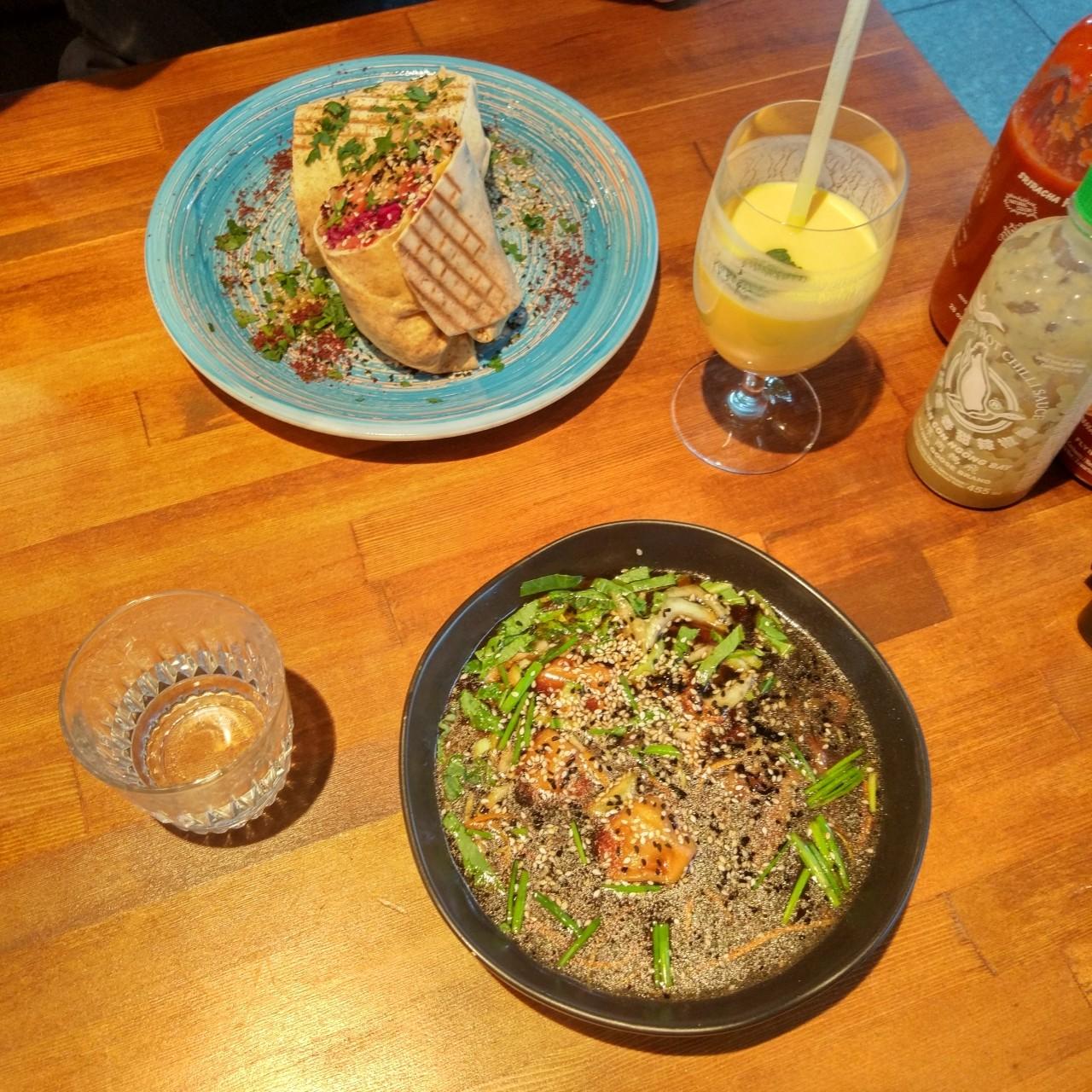 wegetarianski obiad w warszawie - falla