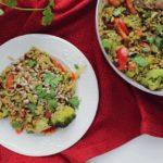 """Kasza z warzywami i pesto – ekspresowy obiad """"zero waste"""""""